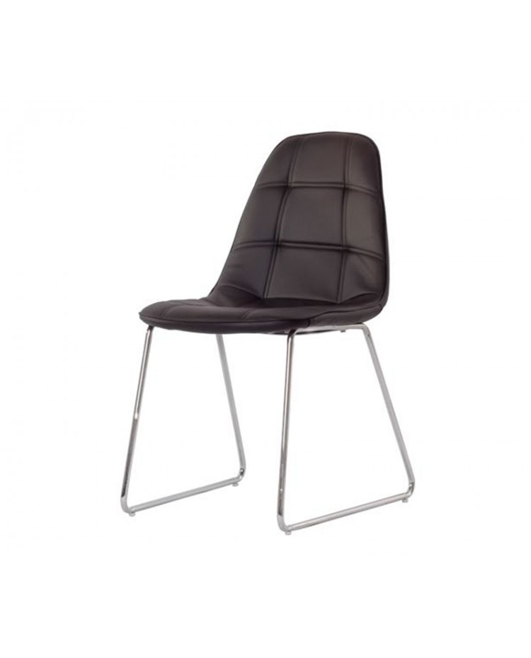 Living style silla eames capiton patas trineo x 4 unidades for Sillas capitone comedor