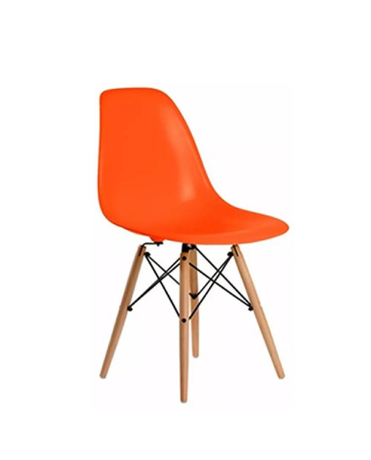 Silla Eames DSW Naranja x 8 unidades