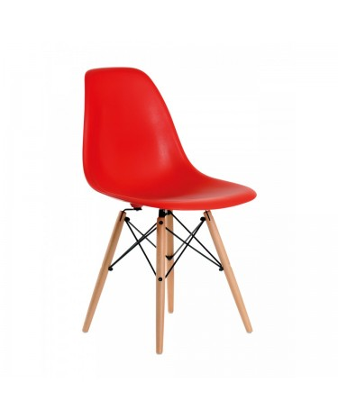 Silla Eames DSW Roja x 4 unidades