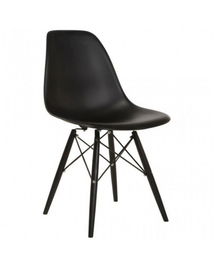 Living style silla eames patas cromadas - Sillas negras ...