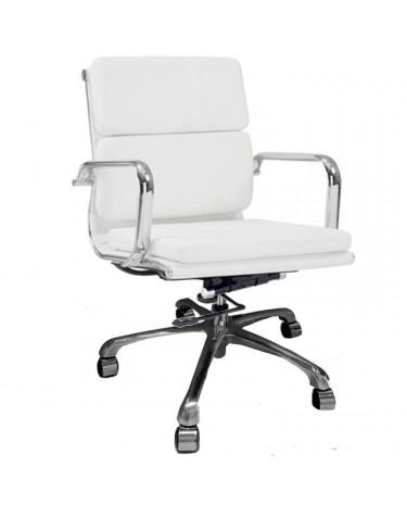 Sillón de Oficina Aluminium Soft Bajo Blanco